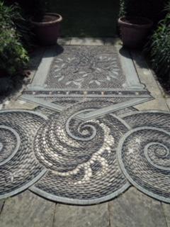 Mosaics at Gresgarth Hall